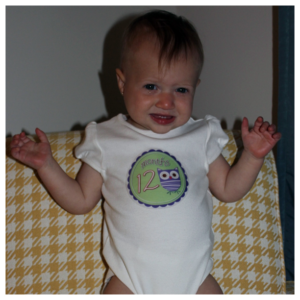 Baby' 12 month onesie photo @ohbotherblog