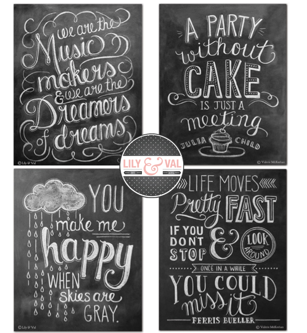 Hand-lettered Chalk Art by Lily & Val @ohbotherblog