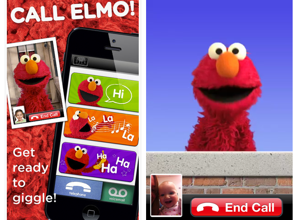 Elmo will FaceTime your child with the Elmo Calls iPhone App @ohbotherblog