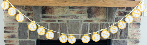 """You Are My Sunshine"" bunting @ohbotherblog"