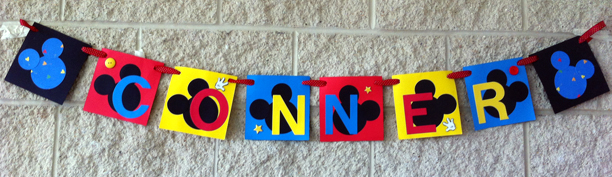 Mickey Mouse Birthday Banner @ohbotherblog