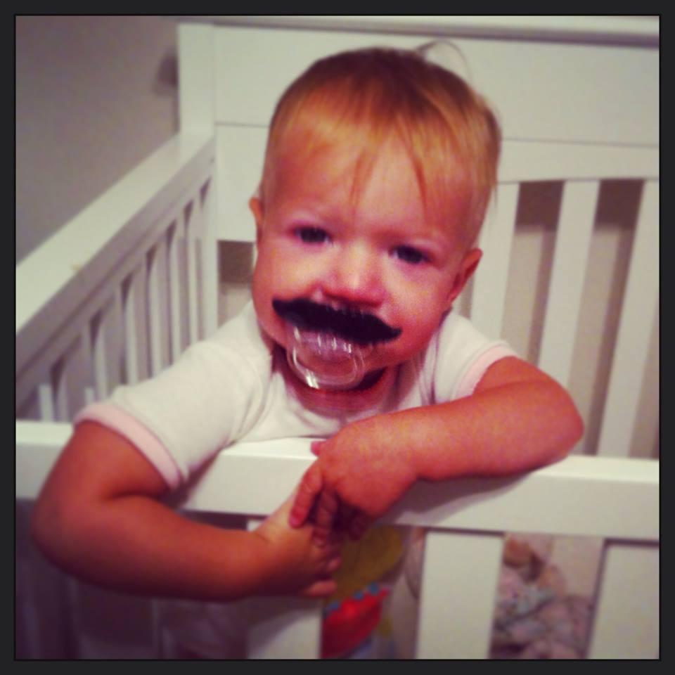 Baby Mustache Nuk @ohbotherblog