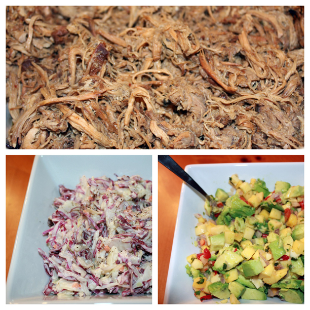 Caribbean Jerk Pork with Avocado Mango Salsa and Red Cabbage Slaw @ohbotherblog