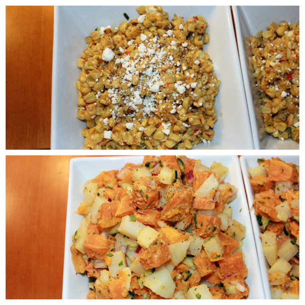 Caribbean Sweet Potato Salad and Mexican Corn Salad @ohbotherblog