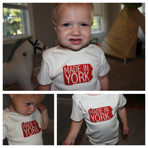 Made in York onesie by Organzee @ohbotherblog