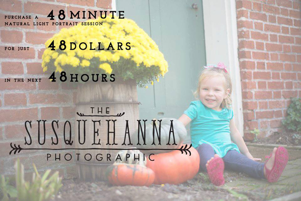 The Susquehanna Photographic 48 Hour LOVE sale @ohbotherblog