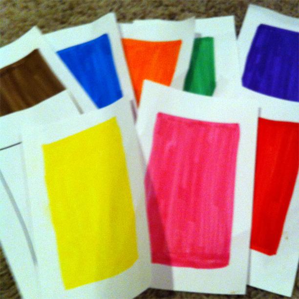 color flash cards @ohbotherblog
