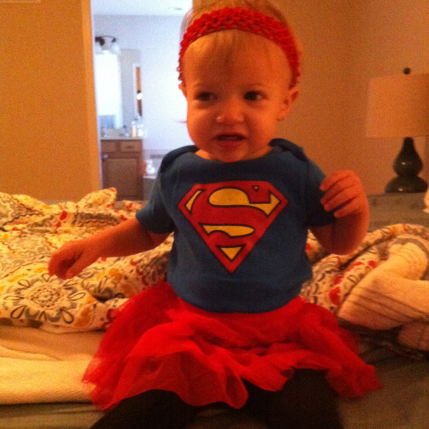 Happy Holdyween - Superman onesie and tutu costume @ohbotherblog