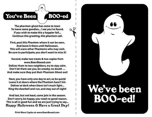 You've Been Booed Neighborhood Halloween Game @ohbotherblog