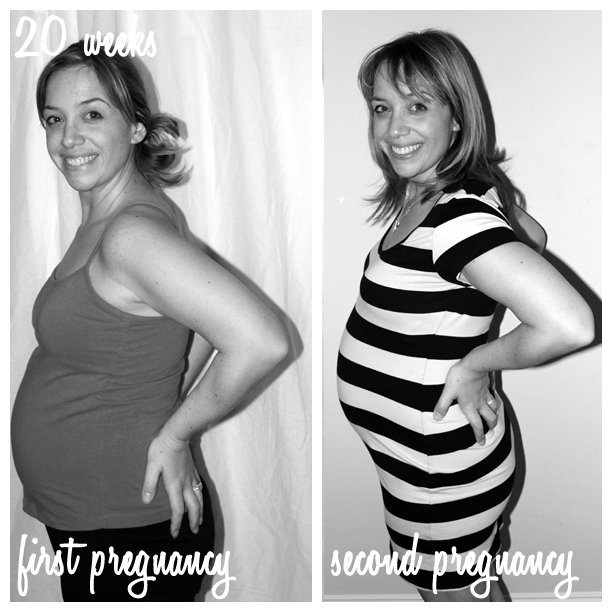 20 weeks pregnant - first pregnancy and second pregnancy @ohbotherblog