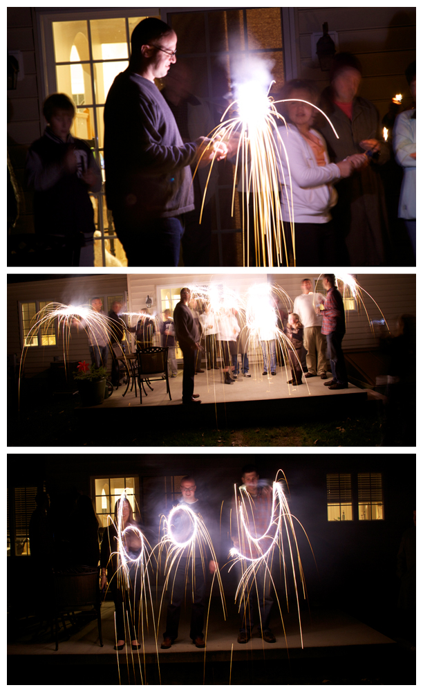 Colored sparklers for a gender reveal party @ohbotherblog