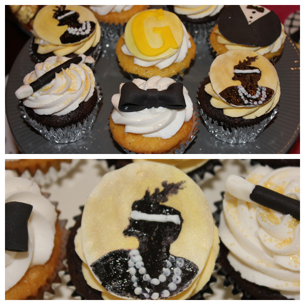 Great Gatsby Cupcakes for a Roaring 20's Party @ohbotherblog