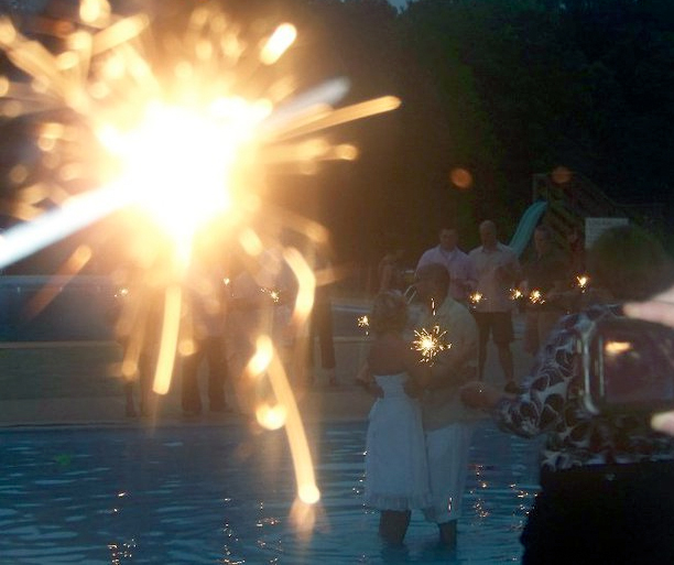 Sparklers during your first wedding dance @ohbotherblog