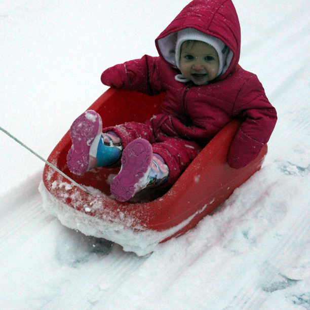 Holden's First Sled Ride @ohbotherblog