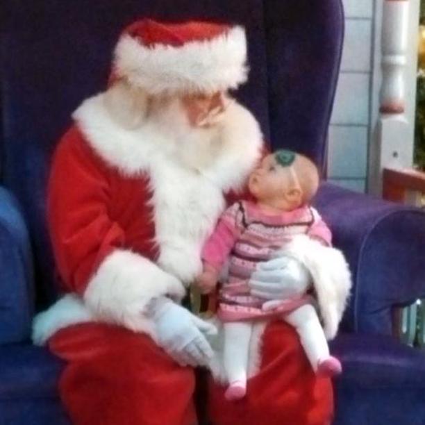 Baby Santa pic @ohbotherblog