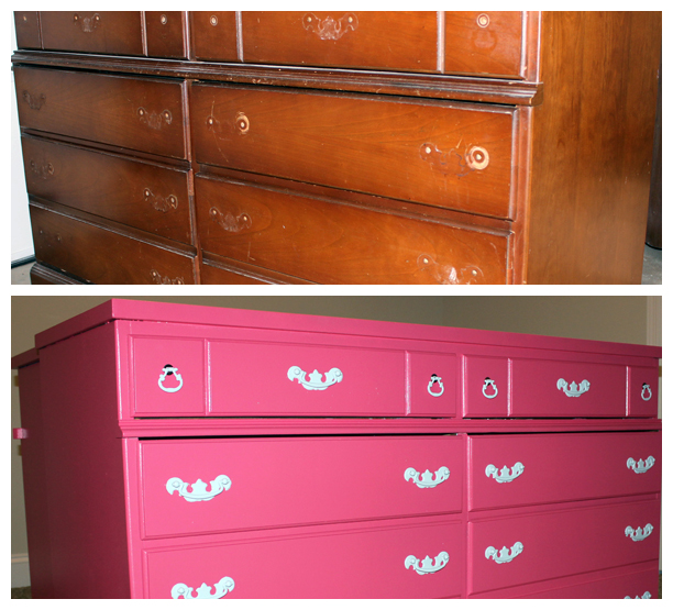 Dresser refinishing - before and after @ohbotherblog