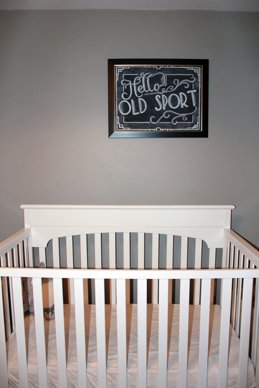 Nursery for a baby named Gatsby - @ohbotherblog