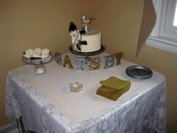 Great Gatsby baby shower for a baby named Gatsby @ohbotherblog