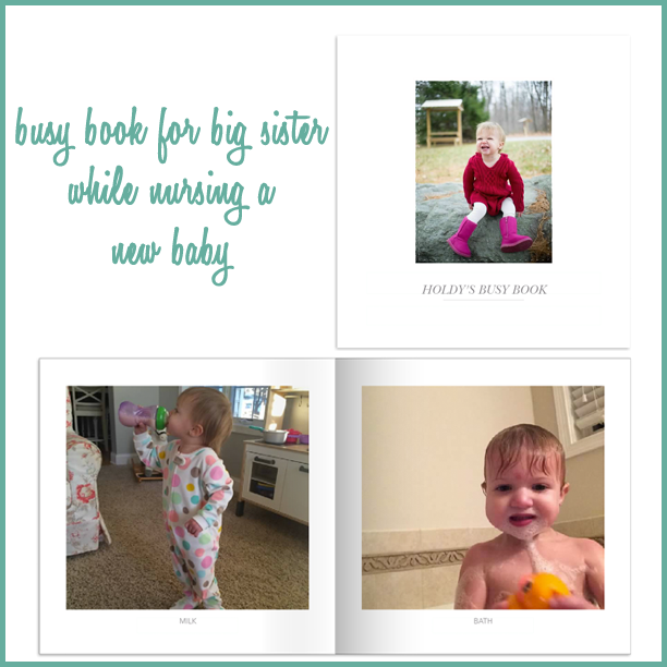 Busy bag for toddler while nursing the new baby @ohbotherblog