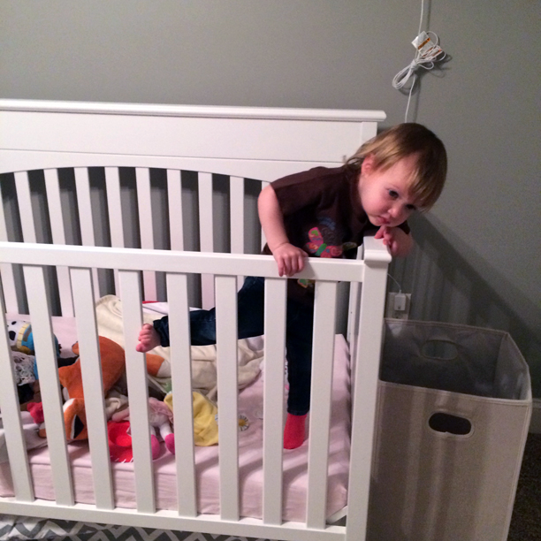 When your toddler escapes the crib @ohbotherblog