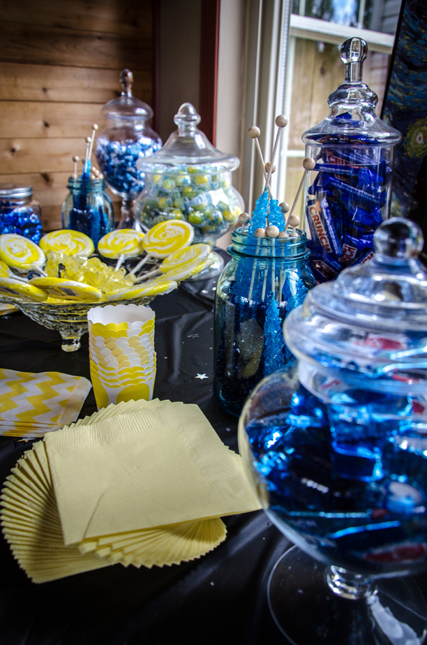Van Gogh Starry Night Bridal Shower Theme @ohbotherblog