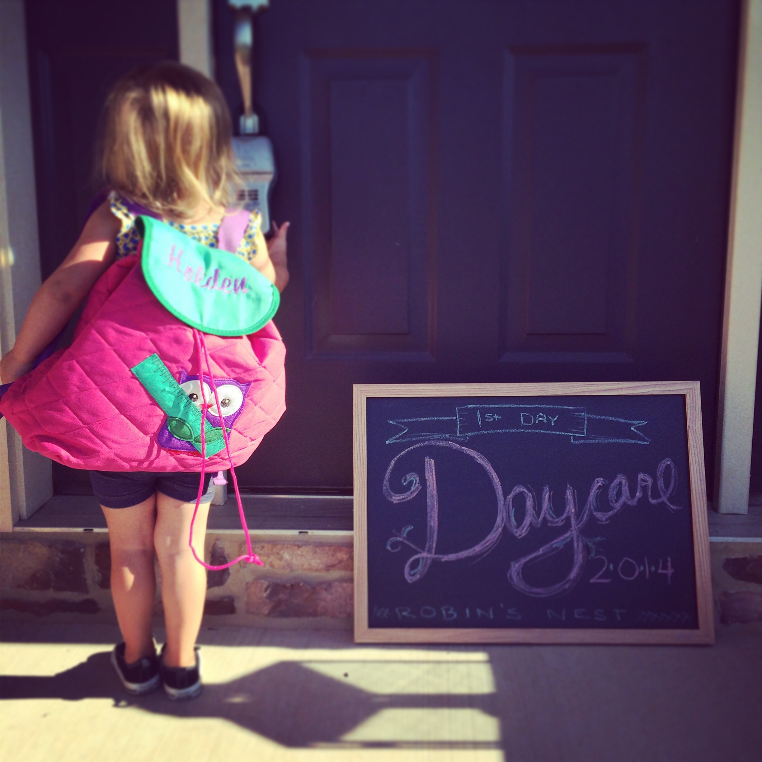 First day of Daycare @ohbotherblog