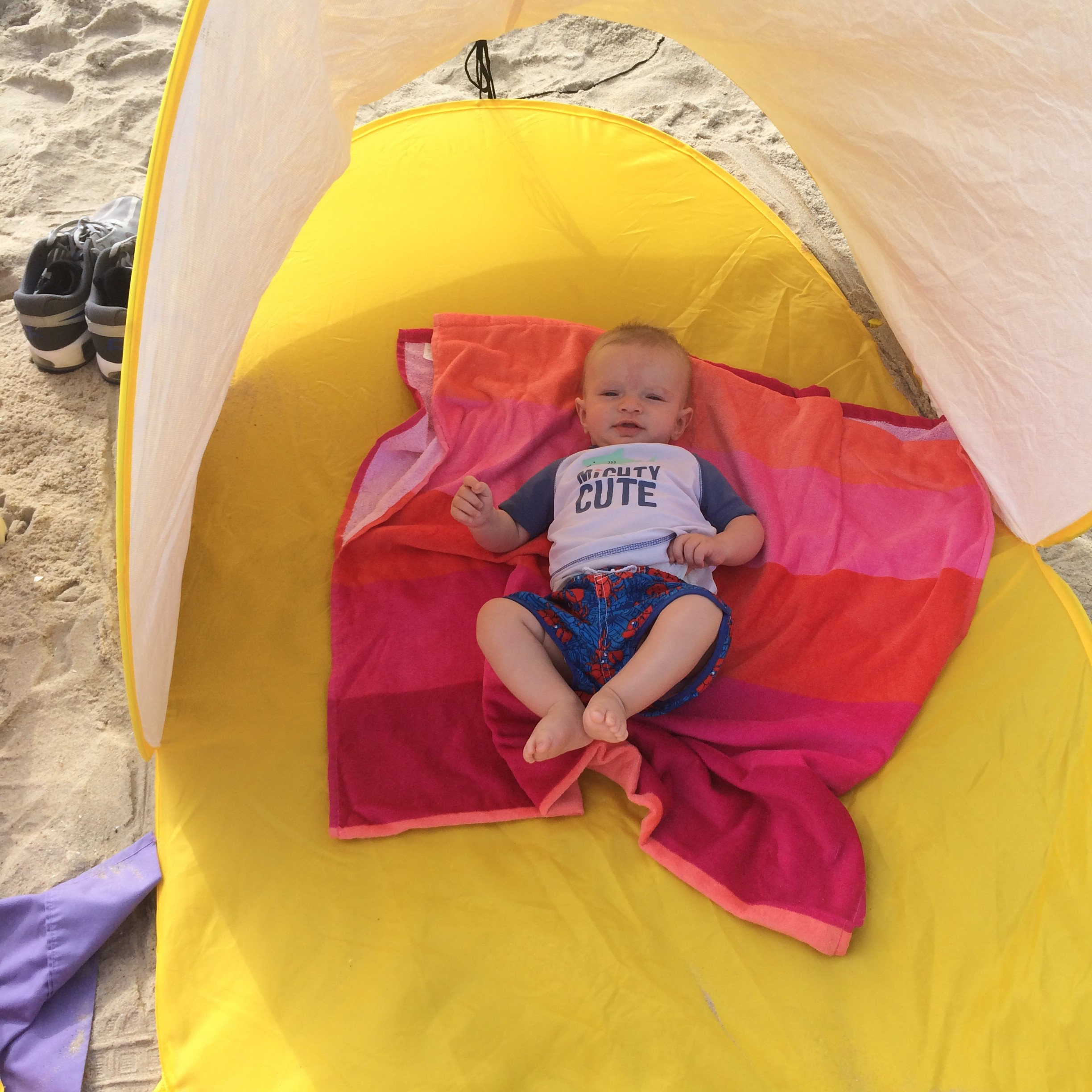 Beach trip with baby and toddler @ohbotherblog