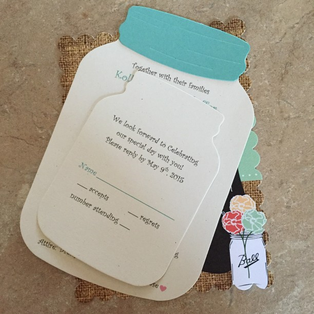 Mason Jar themed bridal shower and wedding @ohbotherblog
