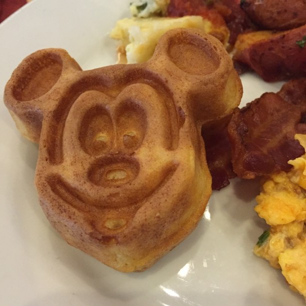 Mickey Waffles in Disney World @ohbotherblog