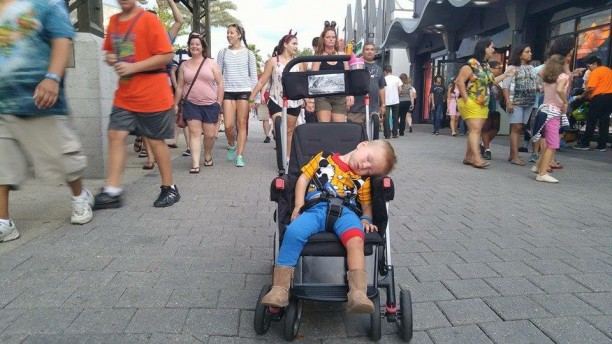GB sleeping all over Disney World @ohbotherblog