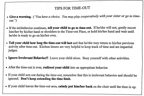 Tips for effective Time Outs with a toddler @ohbotherblog