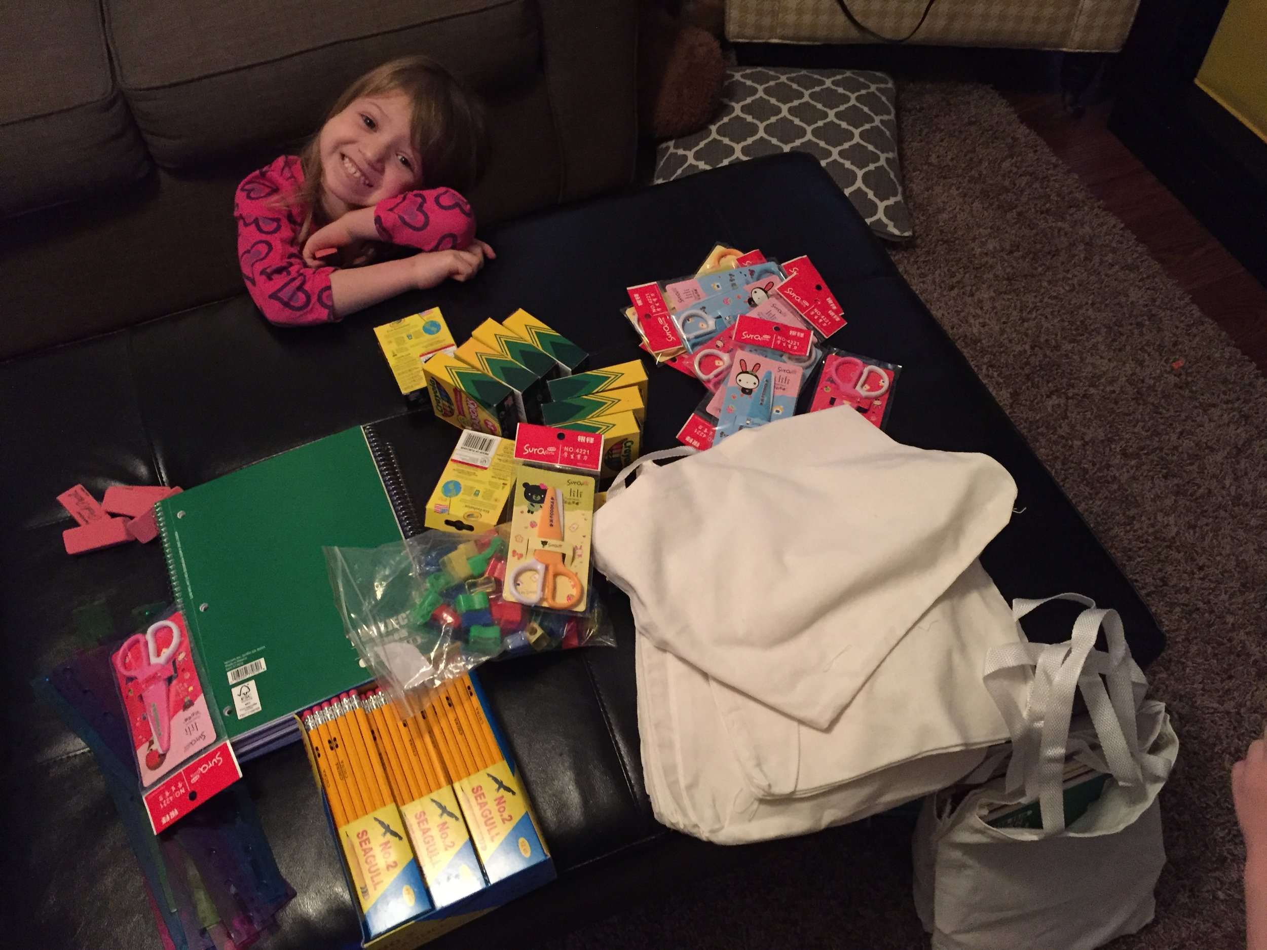 Assembling Emergency School Kits for Refugees @ohbotherblog