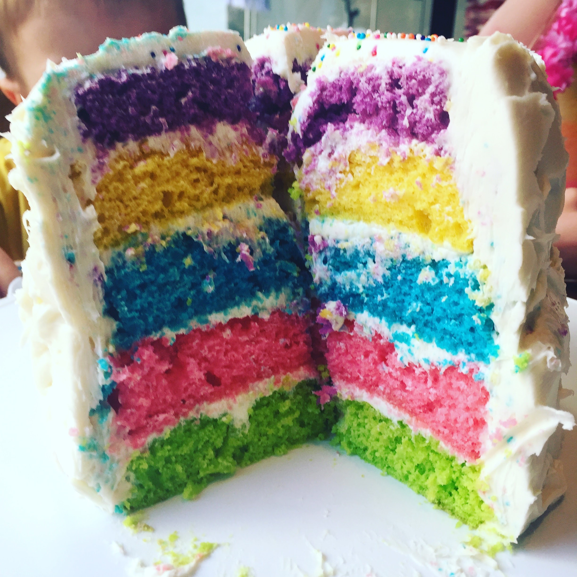 Make a Rainbow Cake @ohbotherblog