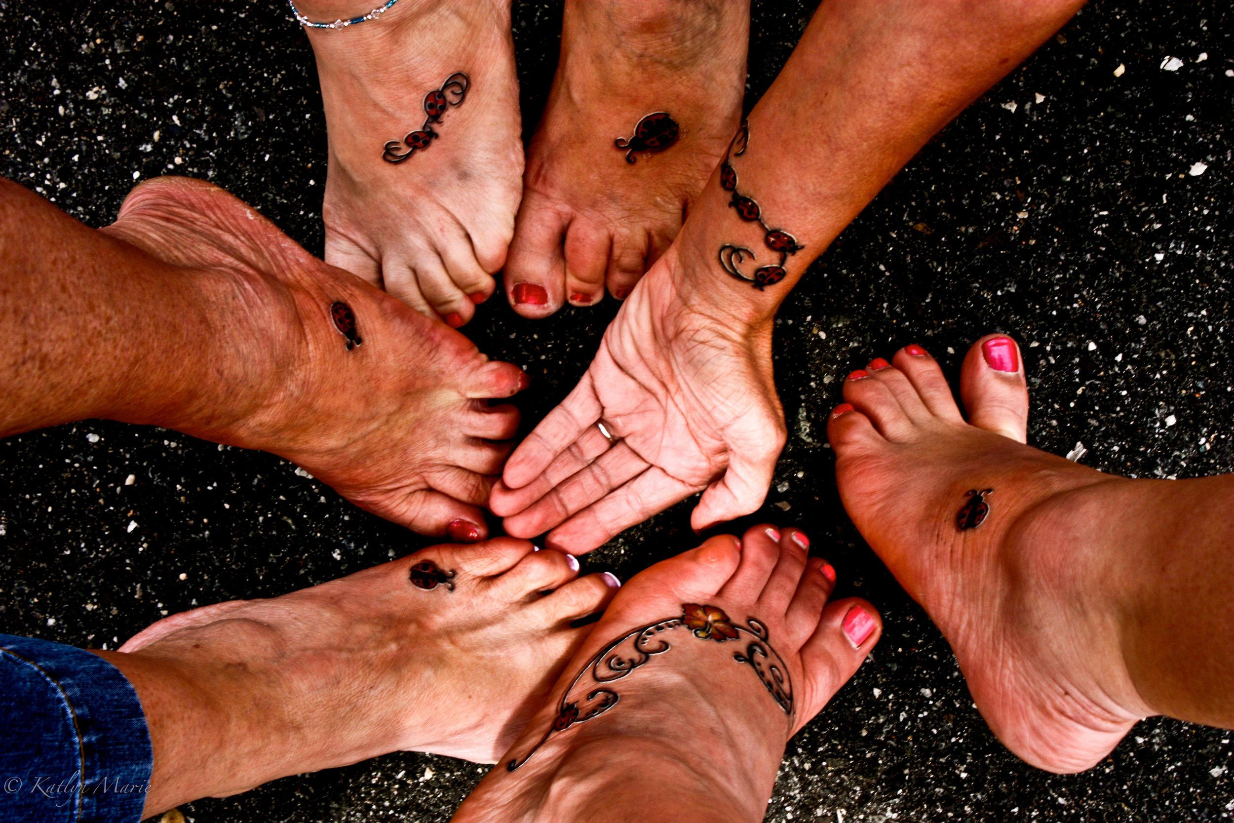 Ladybug Tattoos for Nanny