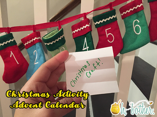 Christmas Activity Advent Calendar @ohbotherblog