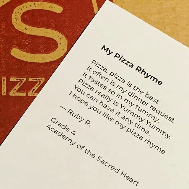 Oh how we love a pizza rhyme, we try to craft them all the time. Ours are fine, but we're just a newbie, nowhere as talented as young poet Ruby. 😊