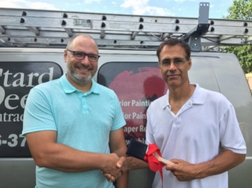 New owner, Joel Greiner with company founder, Paul Dubois
