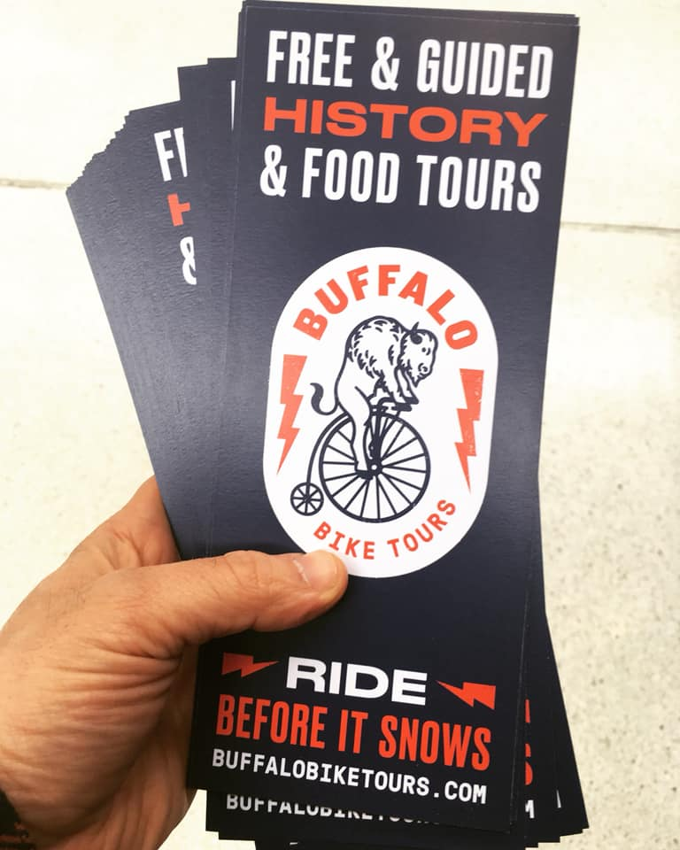 buffalo bike tours rack cards