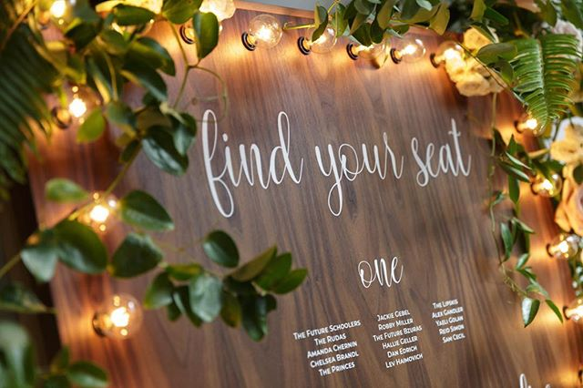 We love to build new things, so when @dark_and_diamond commissioned this black walnut seating chart board with built-in lights, we were ecstatic. Do you have a fun, fresh idea that you'd love to bring to life? Let's talk. . . Photo: @dideofilmsphotography  Greenery: @dark_and_diamond Lettering: @drinksanddecor . . #customsignage #customfabrication #woodsign #lightedsign #seatingchartdesign #seatingchart #seatingchartideas #weddingdesign #weddinglighting #lnjweddings #lnjwedding #hudsonvalleyweddings