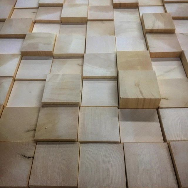 Cut and sanded blocks of yellow cedar for a new wall piece we are prototyping with some reclaimed wood. #handmade #art #artist #design #decor #interiordesign #homedecor #designer #wood #custom #madeincanada #reclaimed #beauty #canada #beautiful #vancouver #wall #cedar #block #square #glue