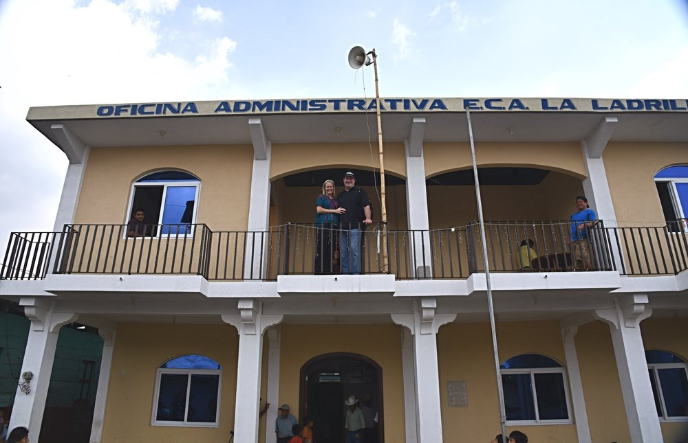 2017 - FLF builds an office building for the Coffee Cooperative (ECA). This organization is oversees the coffee bean sales and helps ensure the economy of La Ladrillera stays healthy.