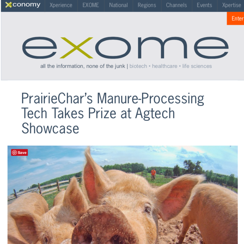 Xconomy - Manure Processing Tech Takes Prize at Agtech
