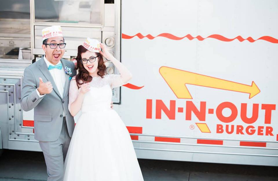 In N Out catered the wedding with tater tots from their favorite diner.
