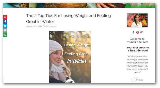 losing weight in winter article