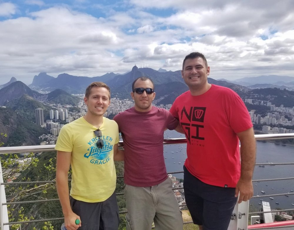 Andrew (far left) with Victor and Kroyler in Rio.