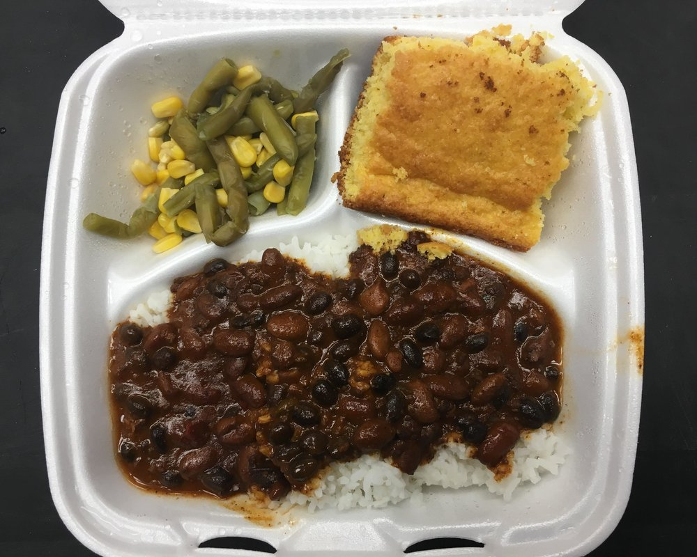 Chili and Cornbread - The perfect meal for a cold day