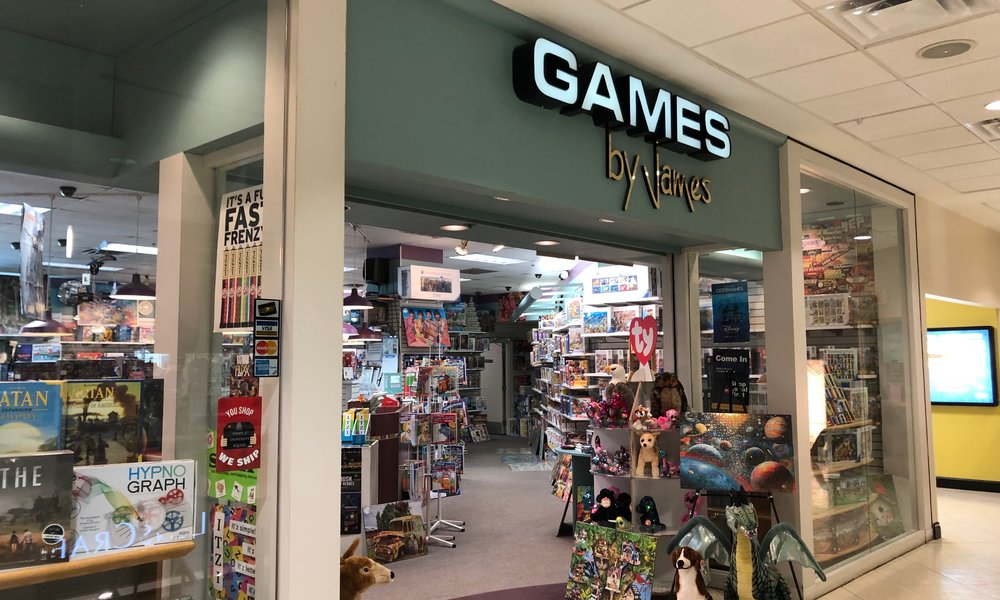- Located in the Shops at University Square, Games by James has been a mainstay of downtown Rochester's locally owned businesses for 29 years. Featuring the area's largest selection of jigsaw puzzles, and a comprehensive selection of strategy and family games. If you need a game or a puzzle, we've got you covered.