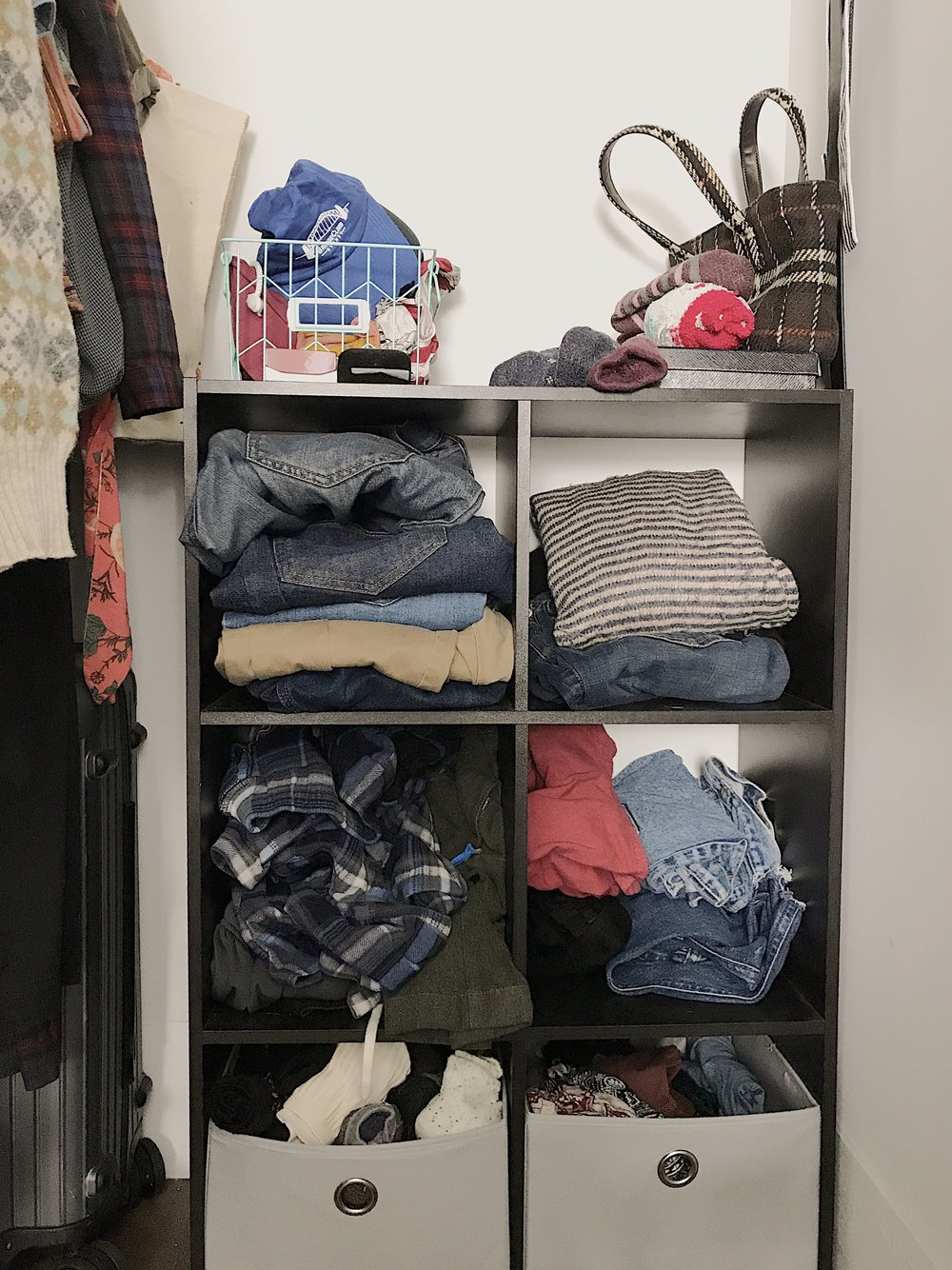 This shelf is still a work in progress