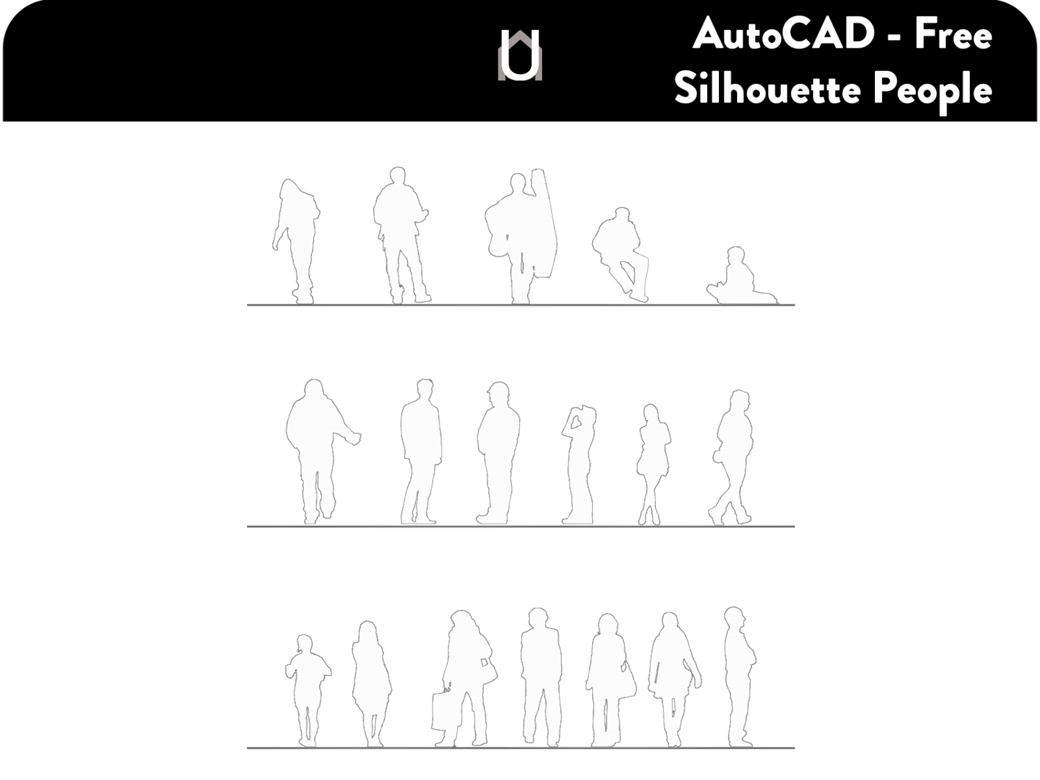 Free AutoCAD Silhouette People — Understanding Architecture