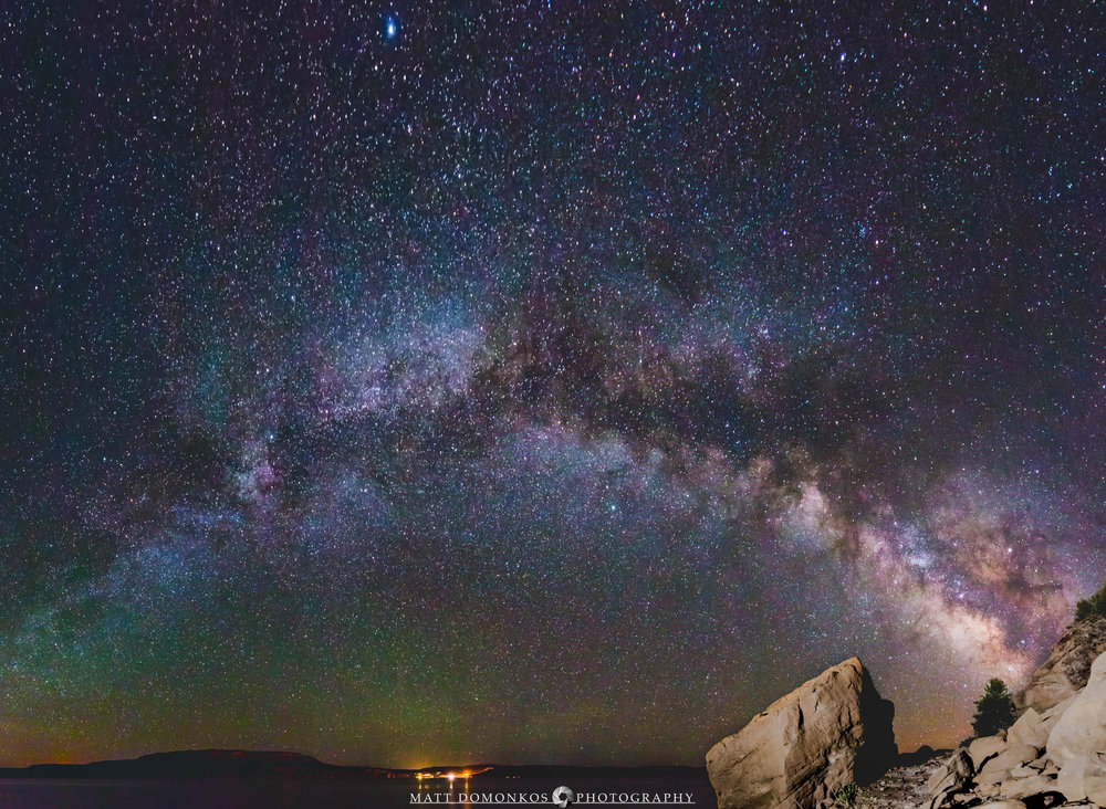 Galaxy Arching over Lake